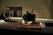 BAR, Doris Salcedo  installation and Louise Bourgeois - private view. Dinner afterwards for the Louise Bourgeois exhibition. Tate Modern, London, SE1,-DO NOT ARCHIVE-© Copyright Photograph by Dafydd Jones. 248 Clapham Rd. London SW9 0PZ. Tel 0207 820 0771. www.dafjones.com.