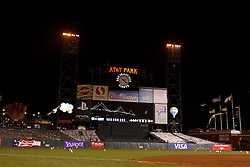 SAN FRANCISCO, CA - JUNE 13: General view of the San Francisco Giants scoreboard after the game against the Houston Astros at AT&T Park on June 13, 2012 in San Francisco, California. Cain pitched a perfect game as the San Francisco Giants defeated the Houston Astros 10-0. (Photo by Jason O. Watson/Getty Images) *** Local Caption ***