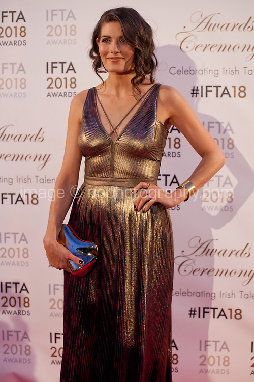 Sarah Carroll at the IFTA Film & Drama Awards (The Irish Film & Television Academy) at the Mansion House in Dublin, Ireland, Thursday 15th February 2018. Photographer: Doreen Kennedy