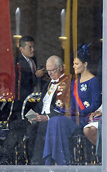 October 22, 2019, JAPAN: 22-10-2019 Inhuldiging Enthronement ceremony of Emperor Naruhito of Japan in Tokyo..Princess Victoria and King Carl Gustaf at the Imperial Palace to attend the proclamation ceremony of Japans Emperor in Tokyo, Japan. (Credit Image: © face to face via ZUMA Press)