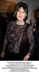 LADY HENRIETTA DUNNE at an exhibition in London on 9th February 2004.PRM 97