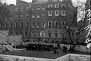 1/04/1966<br /> 04/11/1966<br /> 11 April 1966<br /> 1916 Jubilee Commemorations- Opening and Blessing Ceremony at the Garden of Remembrance, Parnell Square, Dublin. Image shows President Eamon de Valera entering the garden.
