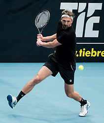 23.10.2016, Stadthalle, Wien, AUT, ATP Tour, Erste Bank Open, Tie Break Tens, Halbfinale, im Bild Goran Ivanisevic (CRO) // Goran Ivanisevic of Croatia during the semifinal match of the Tie Break Tens of Erste Bank Open of ATP Tour at the Stadthalle in Vienna, Austria on 2016/10/23. EXPA Pictures © 2016, PhotoCredit: EXPA/ Sebastian Pucher