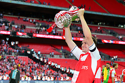 Rob Holding of Arsenal celebrates with the FA Cup after beating Chelsea 2-1  - Mandatory by-line: Dougie Allward/JMP - 27/05/2017 - FOOTBALL - Wembley Stadium - London, England - Arsenal v Chelsea - Emirates FA Cup Final