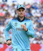 Jason Roy of England during the ICC Cricket World Cup 2019 semi final match between Australia and England at Edgbaston, Birmingham, United Kingdom on 11 July 2019.