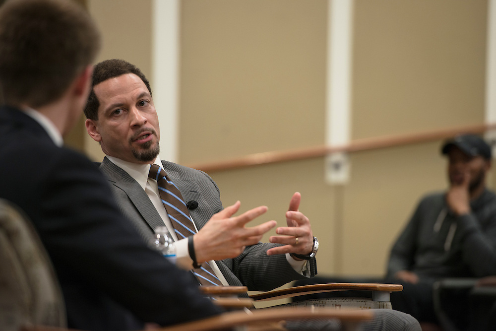 ESPN Sports Reporter Chris Broussard reflected on his college experience as an english major, a man of faith, and how these aspects benefitted him during his career sports journalism.