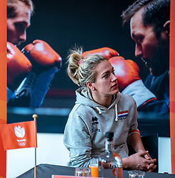 28-12-2019 NED: Pressmoment Volleyball, Arnhem<br /> Volleyball women & men have a final training and press conference before they leave for Olympic Qualification Tournament / Maret Balkestein-Grothues