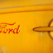 1929 Ford Yellow Door Panel - Pottsville - Merlin, Oregon - Lensbaby