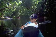 Kayaking Wailua River, Kauai, Hawaii, USA<br />