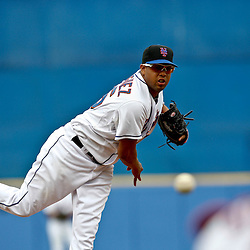 March 6, 2011; Port St. Lucie, FL, USA; New York Mets relief pitcher Francisco Rodriguez (75) during a spring training exhibition game against the Boston Red Sox at Digital Domain Park. The Mets defeated the Red Sox 6-5.  Mandatory Credit: Derick E. Hingle
