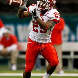 November 10, 2011; New Orleans, LA, USA; Houston Cougars running back Bryce Beall (25) against the Tulane Green Wave at the Mercedes-Benz Superdome.  Mandatory Credit: Derick E. Hingle-US PRESSWIRE