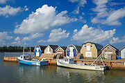 Fishing boats and huts<br /> New London<br /> Prince Edward Island<br /> Canada