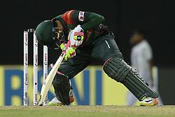 March 14, 2018 - Colombo, Sri Lanka - Bangladesh cricketer Mushfiqur Rahim during the 5th Twenty-20 cricket match of NIDAHAS Trophy between Bangladesh and India at R Premadasa cricket ground, Colombo, Sri Lanka on Wednesday 14 March 2018. (Credit Image: © Tharaka Basnayaka/NurPhoto via ZUMA Press)