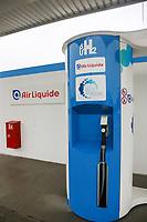 Hirschberg. 11.12.17 | <br /> Wasserstoffstankstelle. AirLiquid.<br /> <br /> Bild: Markus Prosswitz 11DEC17 / masterpress (Bild ist honorarpflichtig - No Model Release!) <br /> BILD- ID 01763 |