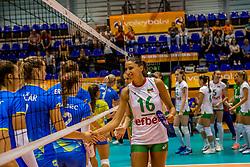 22-08-2017 NED: World Qualifications Slovenia - Bulgaria, Rotterdam<br /> Bulgaria win 3-1 against Slovenia / team Bulgaria, Elitsa Vasileva #16 of Bulgaria