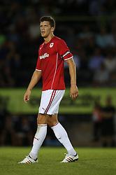 Mark Hudson of Cardiff City - Photo mandatory by-line: Kieran McManus/JMP - Tel: Mobile: 07966 386802 24/07/2013 - SPORT - FOOTBALL - Gloucestershire -  Forest Green Rovers V Cardiff City