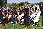 "Maura Kelley with Ventura County Senior Deputy Patrick Hawthorne attend the 34th Annual National Peace Officers Memorial Service to remember her late husband Ventura County sheriff's deputy Yehven ""Eugene"" Kostiuchenko at the west lawn of the U.S. Capitol on May 15, 2015. Yehven, a Ukrainian hit by a drunk driver last October who came to the U.S. to investigate a money laundering case and met his future wife. Photo by Kris Connor"