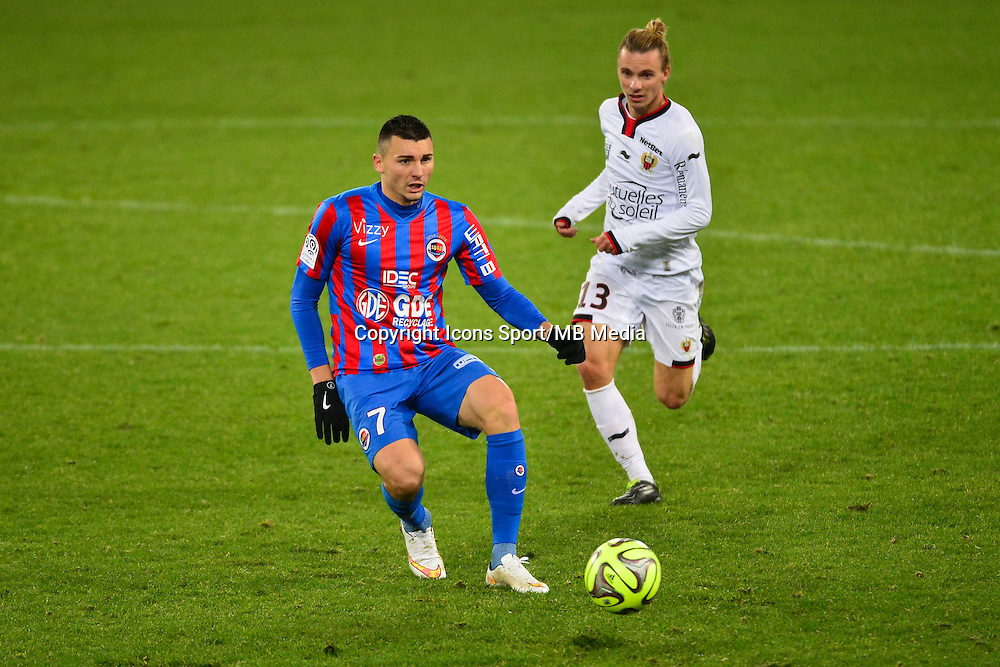 Mathieu DUHAMEL / Niklas HULT - 06.12.2014 - Caen / Nice - 17eme journee de Ligue 1 -<br />