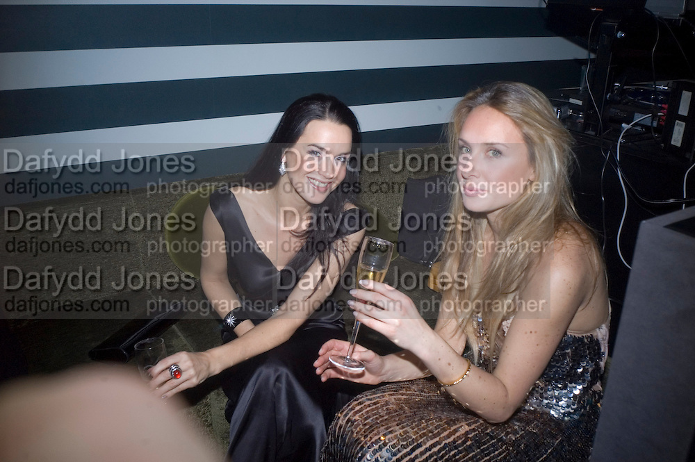 Amelia Powers and Arabella Boyce, Weinstein Bafta after-party in association with Chopard. Bungalow 8. London. 10  February 2008.  *** Local Caption *** -DO NOT ARCHIVE-© Copyright Photograph by Dafydd Jones. 248 Clapham Rd. London SW9 0PZ. Tel 0207 820 0771. www.dafjones.com.