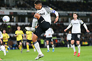 Derby County defender Curtis Davis (33) puts the ball in the box during the EFL Sky Bet Championship match between Derby County and Millwall at the Pride Park, Derby, England on 14 December 2019.