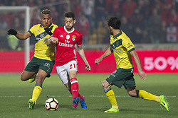 March 18, 2017 - Pacos De Ferreira, Pacos Ferreira, Portugal - Pacos Ferreira's Brazilian forward Welthon (L) with Benfica's Portuguese midfielder Pizzi (C) during the Premier League 2016/17 match between Pacos Ferreira and SL Benfica, at Mata Real Stadium in Pacos de Ferreira on March 18, 2017. (Credit Image: © Dpi/NurPhoto via ZUMA Press)