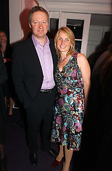 RORY BREMNER and his wife TESSA CAMPBELL-FRASER at a party hosted by jeweller Theo Fennell and Dominique Heriard Dubreuil of Remy Martin fine Champagne Cognac entitles 'Hot Ice' held at 35 Belgrave Square, London, W1 on 26th October 2004.<br /><br />NON EXCLUSIVE - WORLD RIGHTS