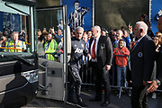 Manchester United Manager Jose Mourinho arrives off the team coach during the Premier League match between Brighton and Hove Albion and Manchester United at the American Express Community Stadium, Brighton and Hove, England on 4 May 2018. Picture by Phil Duncan.