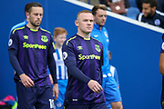 Everton striker Wayne Rooney (10) walks to the field during the Premier League match between Brighton and Hove Albion and Everton at the American Express Community Stadium, Brighton and Hove, England on 15 October 2017. Photo by Phil Duncan.