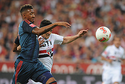 31.07.2013, Allianz Arena, Muenchen, Audi Cup 2013, FC Bayern Muenchen vs Sao Paulo, im Bild, Links Jerome BOATENG (FC Bayern Muenchen), rechts ALIOSIO (Sao Paulo FC) // during the Audi Cup 2013 match between FC Bayern Muenchen and Sao Paulon at the Allianz Arena, Munich, Germany on 2013/07/31. EXPA Pictures © 2013, PhotoCredit: EXPA/ Eibner/ Wolfgang Stuetzle<br /> <br /> ***** ATTENTION - OUT OF GER *****