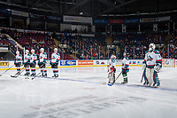 KELOWNA, CANADA - JANUARY 3: the Kelowna Rockets lines up against the Tri-City Americans on January 3, 2017 at Prospera Place in Kelowna, British Columbia, Canada.  (Photo by Marissa Baecker/Shoot the Breeze)  *** Local Caption ***