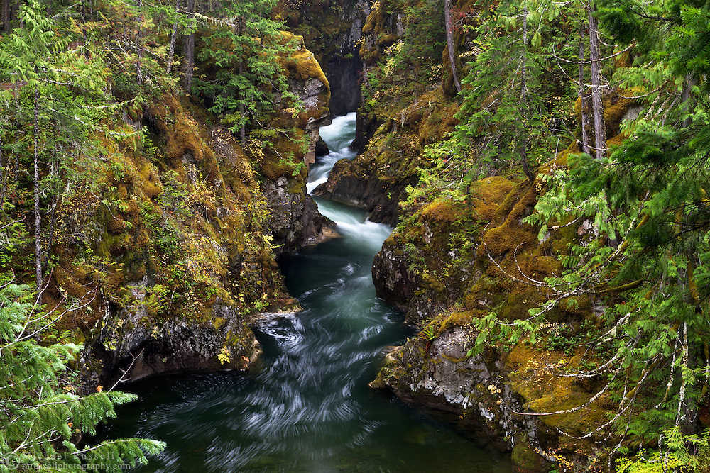 Little Qualicum River at Little Qualicum Falls Provincial Park in the Nanaimo Regional District, British Columbia, Canada