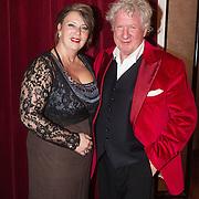 NLD/Hilversum/20131208 - Miss Nederland finale 2013, Willibrord Frequin en partner Gesina Lodewijkx