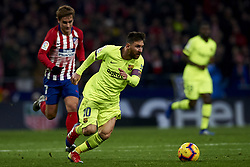 November 24, 2018 - Madrid, Madrid, Spain - Lionel Messi of Barcelona and Antoine Griezmann of Atletico Madrid during the week 13 of La Liga match between Atletico Madrid and FC Barcelona at Wanda Metropolitano Stadium in Valencia, Spain on November 24, 2018. (Credit Image: © Jose Breton/NurPhoto via ZUMA Press)