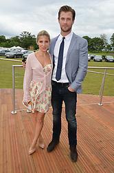 CHRIS HEMSWORTH and ELSA PATAKY at the Audi Polo Challenge at Coworth Park, Blacknest Road, Ascot, Berkshire on 31st May 2015.