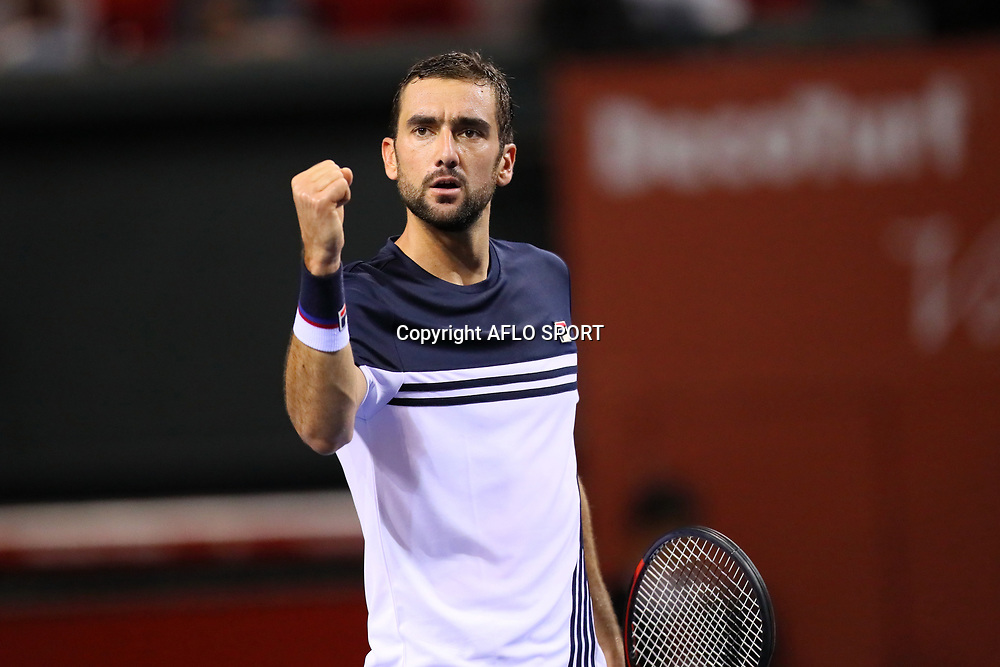 Marin Cilic (CRO), <br /> OCTOBER 6, 2017 - Tennis : <br /> Rakuten Japan Open Tennis Championships 2017, <br /> Men's Singles quarter-final match between <br /> Marin Cilic (CRO) 2-0 Ryan Harrison (USA) <br /> at Ariake Coliseum, Tokyo, Japan. <br /> (Photo by Naoki Nishimura/AFLO SPORT)
