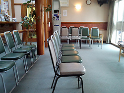 © Licensed to London News Pictures. 21/06/2012 .An empty doctors waiting room in Kent (today 21/06/2012)patients can only get emergency appointments today..Doctors taking Industrial action for the first time in nearly forty years in protest at government changes to NHS pensions. .Photo credit : Grant Falvey/LNP