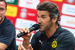 HONG KONG, CHINA - Thursday, June 6, 2019: Borussia Dortmund Legends' Karl-Heinz Riedle during a press conference at the Hong Kong Stadium ahead of an exhibition match between Liverpool FC and Borussia Dortmund. (Pic by Jayne Russell/Propaganda)