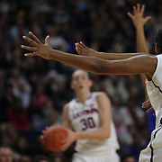 Breanna Stewart, (number thirty), UConn, in action during the UConn Vs DePaul, NCAA Women's College basketball game at Webster Bank Arena, Bridgeport, Connecticut, USA. 19th December 2014