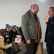 Opening of the show 'Null project: Gustav Metzger thinks about nothing' at WORK gallery. Null project is a sculptural work by London Fieldworks  ( Bruce Gilchrist and Jo Joelson)