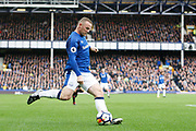 Everton striker Wayne Rooney (10) during the Premier League match between Everton and Arsenal at Goodison Park, Liverpool, England on 22 October 2017. Photo by Craig Galloway.