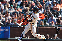SAN FRANCISCO, CA - MAY 25: Brandon Crawford #35 of the San Francisco Giants hits a walk off RBI single against the San Diego Padres during the tenth inning at AT&T Park on May 25, 2016 in San Francisco, California. The San Francisco Giants defeated the San Diego Padres 4-3 in 10 innings. (Photo by Jason O. Watson/Getty Images) *** Local Caption *** Brandon Crawford