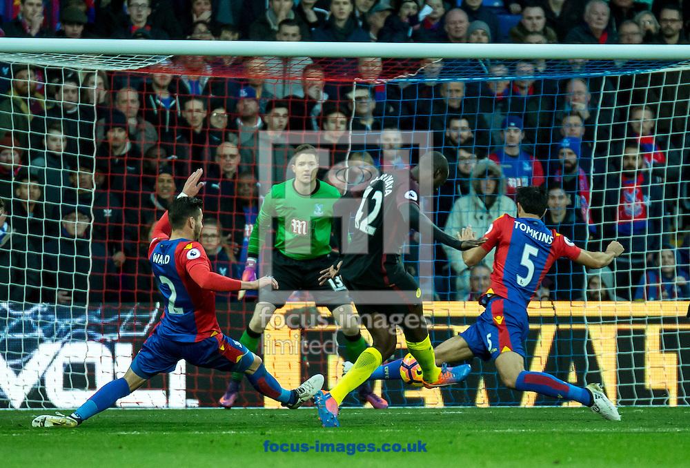 Yaya Toure of Manchester City scores during the Premier League match at Selhurst Park, London<br /> Picture by Liam McAvoy/Focus Images Ltd 07413 543156<br /> 19/11/2016