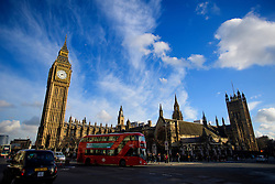 © Licensed to London News Pictures. 04/02/2017. London, UK. General view of the Houses of Parliament in Westminster, London and the the clock face of the Elizabeth Clocktower, more commonly known as Big Ben. Photo credit: Ben Cawthra/LNP