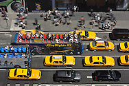 New York Times square, , elevated view ,  on Broadway and 7th avenue , United states