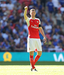 Per Mertesacker of Arsenal - Mandatory byline: Paul Terry/JMP - 07966386802 - 02/08/2015 - Football - Wembley Stadium -London,England - Arsenal v Chelsea - FA Community Shield
