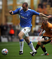 Photo: Paul Thomas.<br /> Wolverhampton Wanderers v Birmingham City. Coca Cola Championship. 22/04/2007.<br /> <br /> Andy Keogh (R) chases down Martin Taylor of Birmingham.