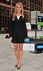 """© licensed to London News Pictures. London, UK  12/05/11 Kate Walsh of The Apprentice and OK! TV fame hosts a """"Live Office"""" to celebrate the new partnership between DYMO and The Prince's Trust on Thursday 12th May in London's Finsbury Avenue Square  . Please see special instructions for usage rates. Photo credit should read AlanRoxborough/LNP"""