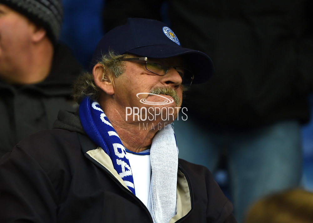 Leicester City supporter during the Premier League match between Leicester City and Manchester City at the King Power Stadium, Leicester, England on 18 November 2017. Photo by Jon Hobley.