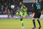 Forest Green Rovers Ebou Adams(14) controls the ball during the EFL Sky Bet League 2 match between Forest Green Rovers and Plymouth Argyle at the New Lawn, Forest Green, United Kingdom on 16 November 2019.