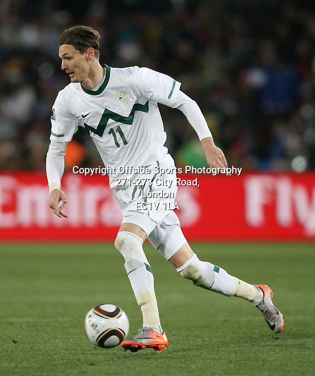 18/06/2010 - 2010 FIFA World Cup - Slovenia vs. USA - Milivoje Novakovic of Slovenia - Photo: Simon Stacpoole / Offside.